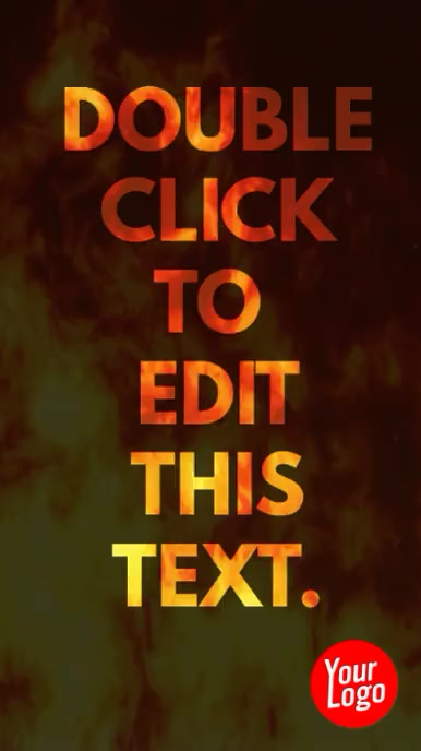 All text fire animation instagram story video