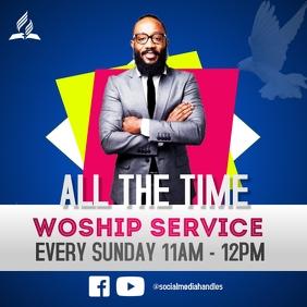 ALL TIME WORSHIP SERVICE Publicação no Instagram template