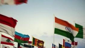 All United Flags Template Vídeo de portada de Facebook (16:9)