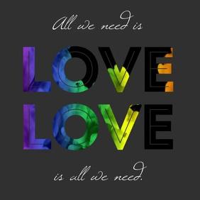 All we need is love instagram rainbow video template