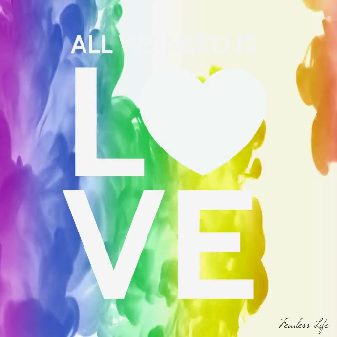 All we need is love lgbt flag colors video Instagram-opslag template