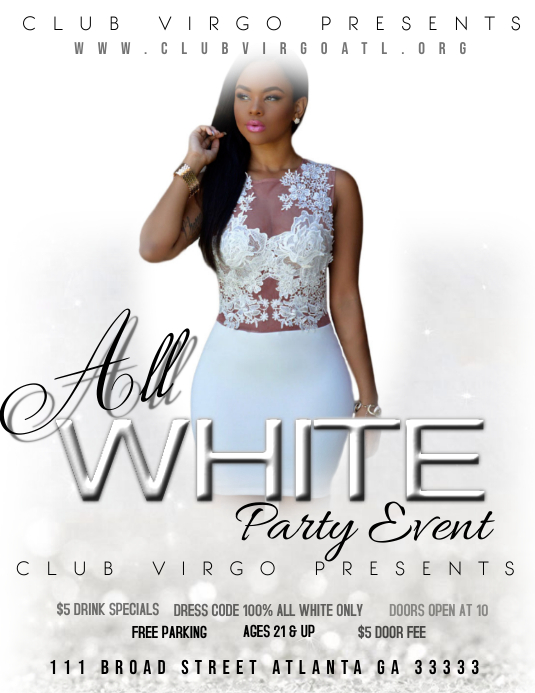 All white party Pamflet (VSA Brief) template