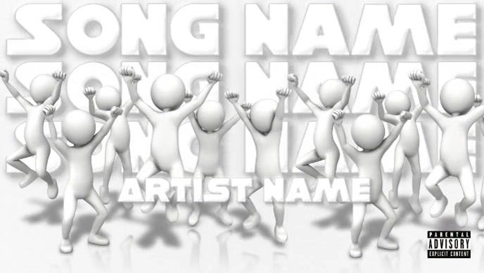 All White Rap/R&B/Pop Audio Type Video Gambar Mini YouTube template