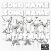 All White Rap/R&B/Pop Cover Capa de álbum template