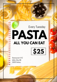 all you can eat pasta ads italian restaurant