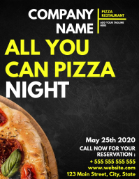 All you can eat pizza night Folder (US Letter) template