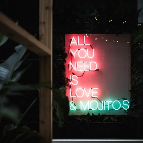 ALL YOU NEDD IS LOVE & MOJITOS Instagram Post template