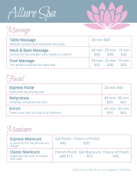 Allure Spa Price List Flyer Template