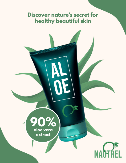 Aloe - Product display ad Flyer (US Letter) template