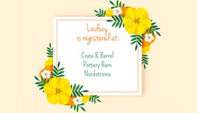 Aloha Bridal Shower Register Card