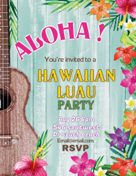 Aloha Hawaiian Luau Flyer Template