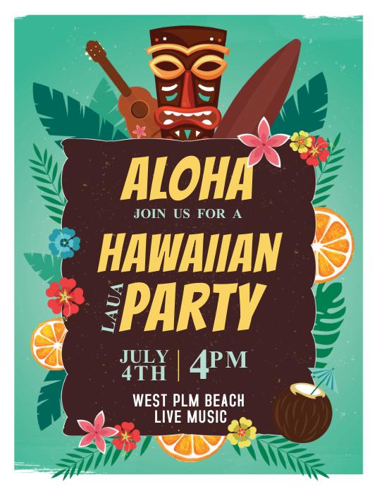 Aloha Hawaiian Party Template