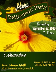Aloha Retirement Flyer Template