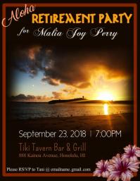 Aloha Retirement Party Flyer