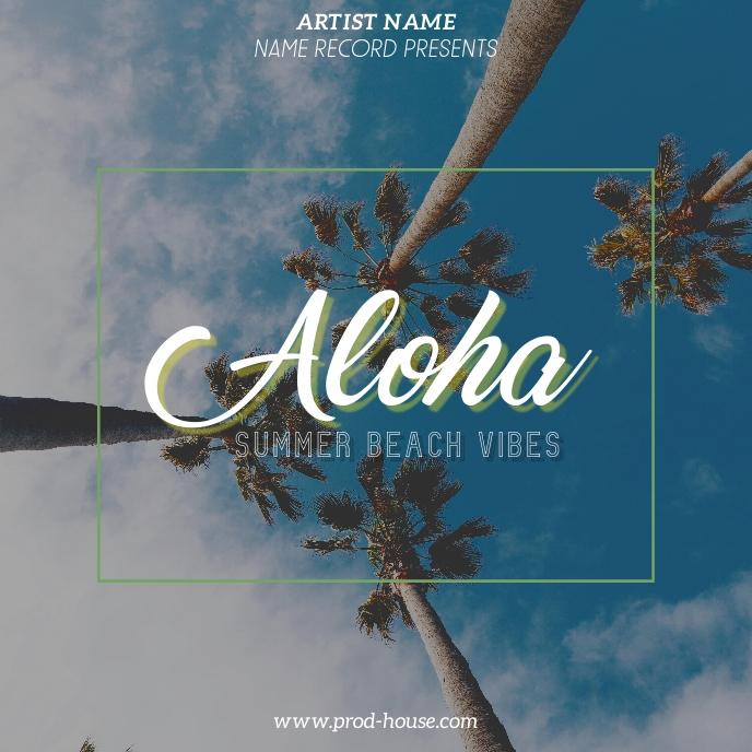 Aloha summer vibes album cover template