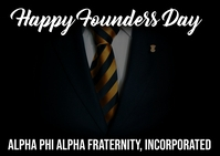 Happy Founders Day Men of Alpha Phi Alpha Fraternity, Inc Postcard template