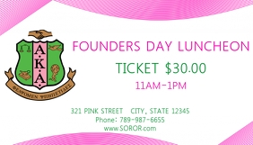 Alpha Kappa Alpha founders day card luncheon template