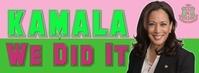 Alpha kappa Alpha Kamala Harris Facebook Cover Photo template
