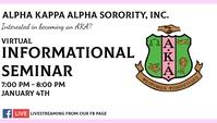 Alpha Kappa Alpha Sorority, Inc. Cartão de visita template