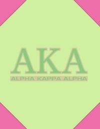 Alpha Kappa Alpha sorority background Flyer (US Letter) template