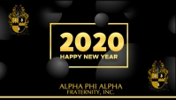 Alpha Phi Alpha New Year Carte de visite template
