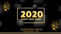 Alpha Phi Alpha New Year Visitekaartje template