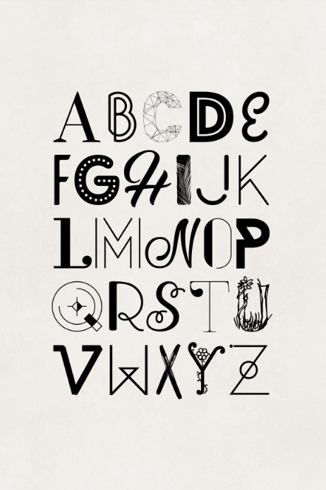 Alphabet Typography Poster Template | PosterMyWall