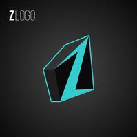 Alphabet Z 3D Logo template