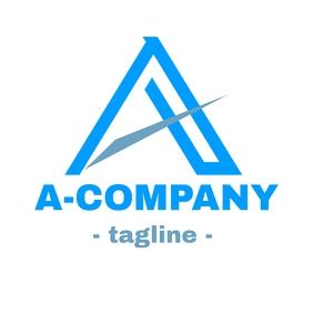 Alphanumeric A logo design