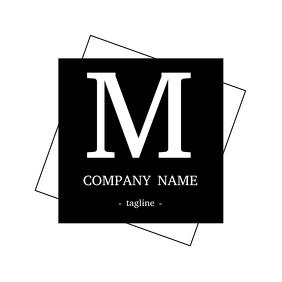 Alphanumeric and minimal m logo