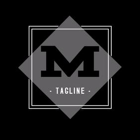 Alphanumeric black and white logo