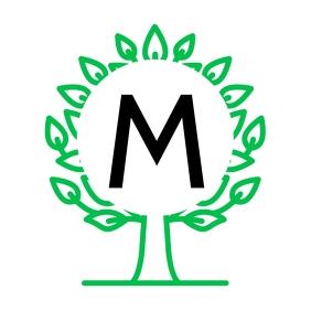Alphanumeric green logo design