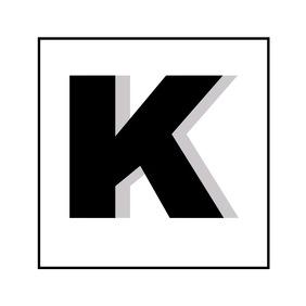 Alphanumeric K black and white logo