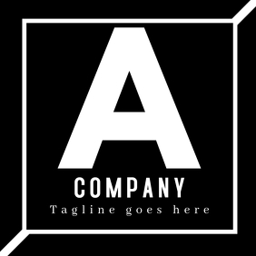 Alphanumeric logo black and white