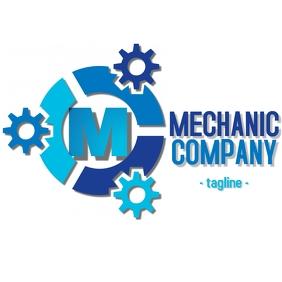 Alphanumeric mechanic company logo