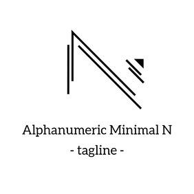 Alphanumeric minimal N logo