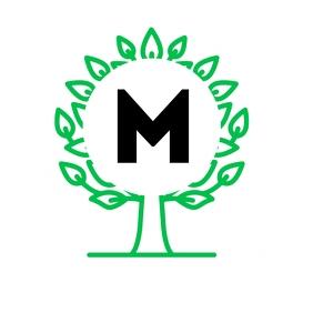 Alphanumeric tree logo