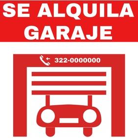 Alquila garage โพสต์บน Instagram template
