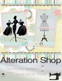 Alteration Shop Pamflet (Letter AS) template
