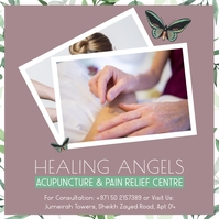 Alternate healing therapy session Social Medi Pos Instagram template
