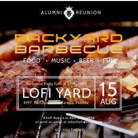 Alumni Party Barbecue Event Video Template