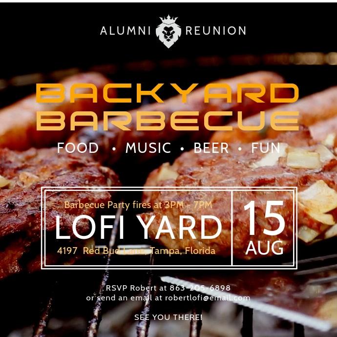 Alumni Party Barbecue Event Video Template