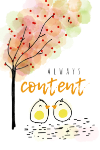 ALWAYS content Affiche template