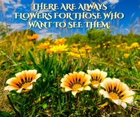 ALWAYS FLOWERS QUOTE TEMPLATE Large Rectangle