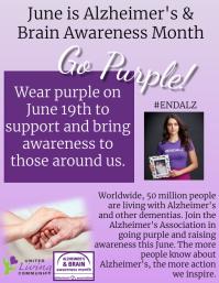 Alzheimer's Flyer (US Letter) template