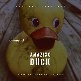 Amazing Duck CD Cover Template