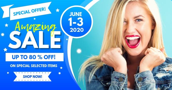 Amazing Sale Social Media Post template delt Facebook-billede