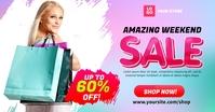 Amazing Weekend Sale Social Media Ad Template Gambar Bersama Facebook