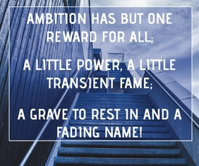AMBITION AND POWER QUOTE TEMPLATE Groot Reghoek