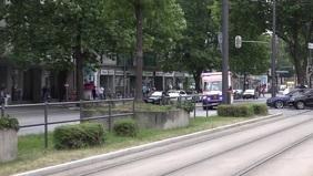 Ambulance driving flyer Видеообложка профиля Facebook (16:9) template